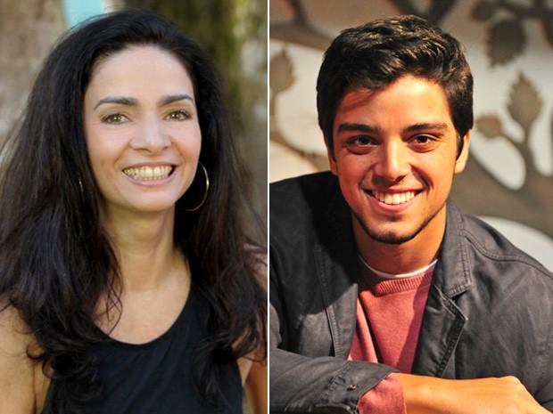 Claudia Ohana e Rodrigo Simas vão danças no palco do Encontro (Foto: Encontro com Fátima Bernardes/ TV Globo)