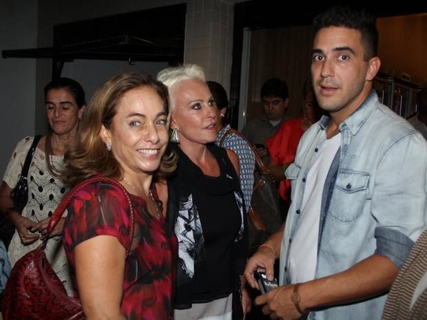 Cissa Guimarães, Ana Maria Braga e André Marques em evento no Rio (Foto: Rodrigo dos Anjos/ Ag. News)