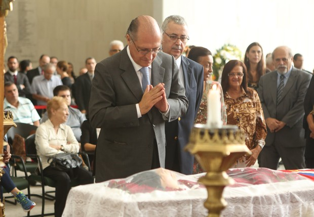 Velório Inezita Barroso - Alckmin (Foto: Iwi Onodera/ EGO)