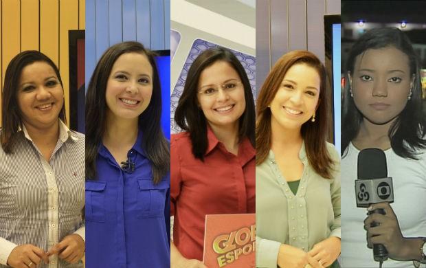 Tatiana Guedes, Aline Ferreira, Elyerge Paes, Elaine Juarez e Carolina Xavier (Foto: Celso Kato/TV Amapá)