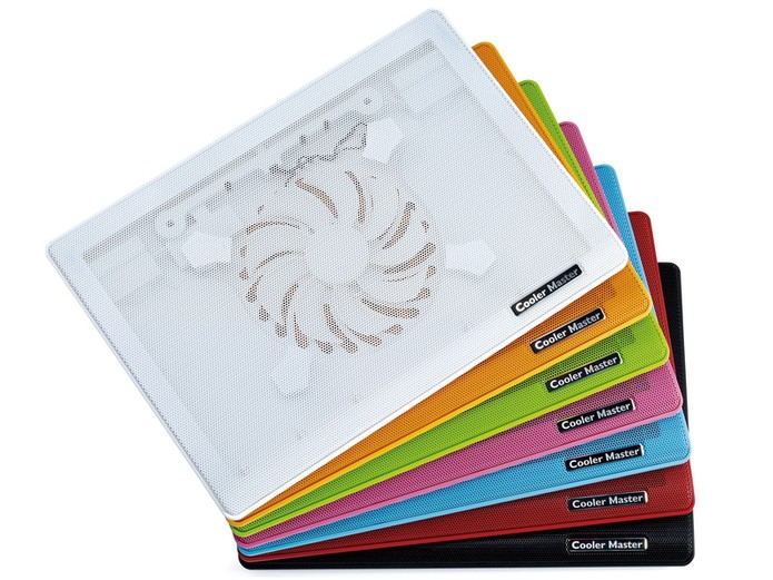 Cooler Master Notepal I100 Ultra-slim está disponível em sete cores para você escolher (Foto: Divulgação/Cooler Master)