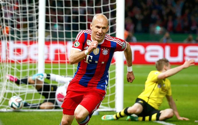 Robben comemoração Bayern de Munique contra  Dortmund Copa da Alemanha final (Foto: Reuters)