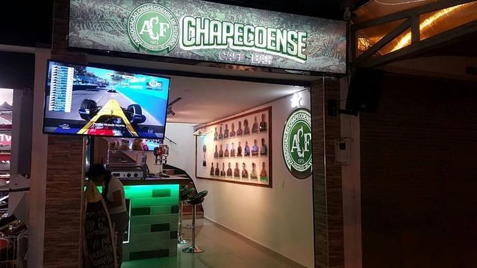 bar temático da chapecoense em medellín (Foto: Arquivo Pessoal)