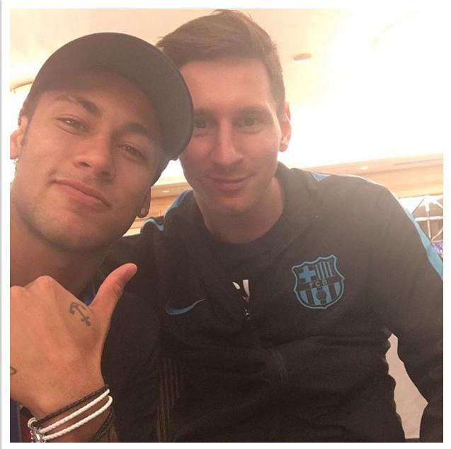 Neymar e Messi Mundial