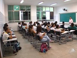 Aulas continuam no IFBA, em Salvador. (Foto: Imagens/Tv Bahia)