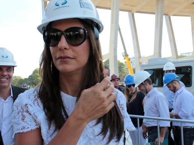 Ivete Sangalo chega à Fonte Nova (Foto: Eric Luis Carvalho/Globoesporte.com)