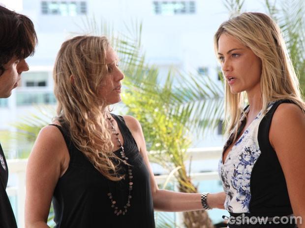 ... e Natália Grimberg em ação (Foto: Carol Caminha/TV Globo)