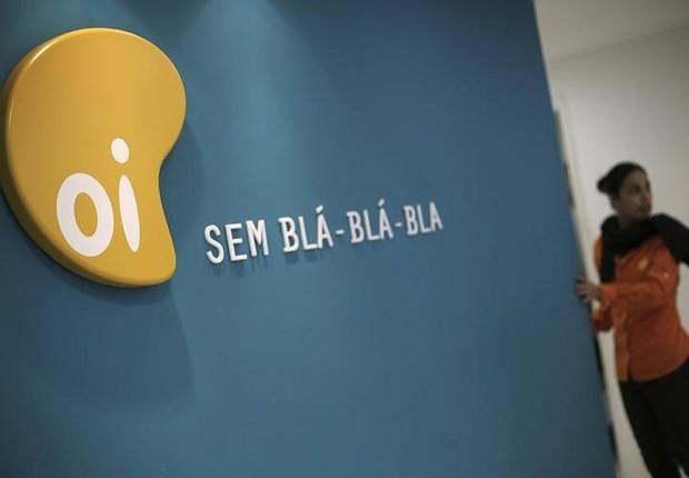 Logo da operadora Oi visto em São Paulo (Foto: Nacho Doce/Reuters)