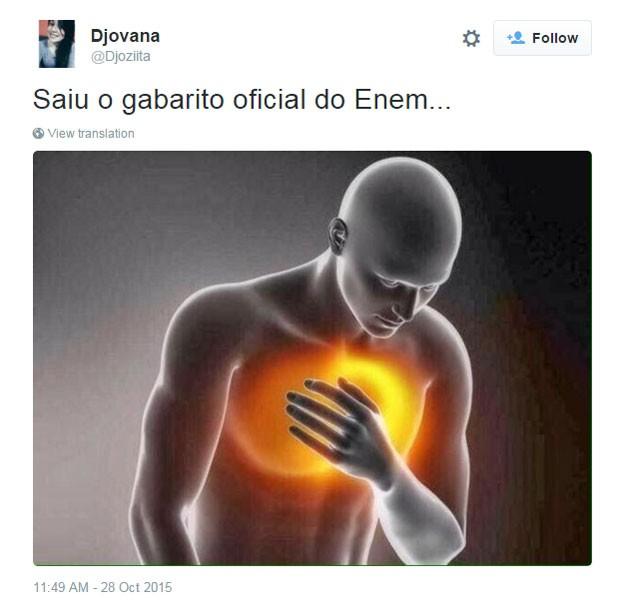 Espera pelo gabarito do Enem 2015 gera memes no Twitter. (Foto: Reprodução/Twitter)