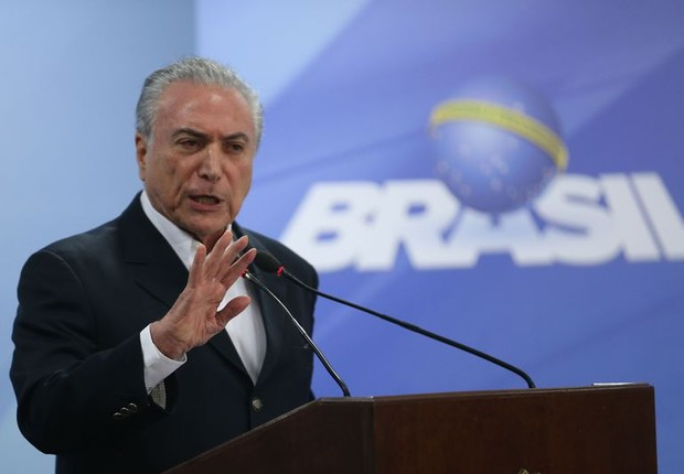 O presidente Michel Temer, durante pronunciamento oficial (Foto: José Cruz/Agência Brasil)