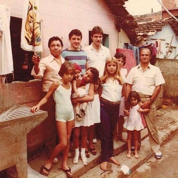 Laurent Suaudeau no início dos anos 80 com Paul Bocuse e Pierre Curty na Rocinha, no Rio (Foto: Reprodução/Instagram)