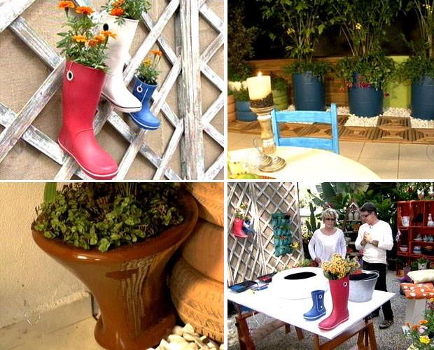 Jairo Sender ensina a fazer vários vasos de flores (Foto: Mais Você - TV Globo)