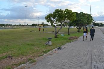Parque Anauá também é atrativo para caminhadas (Foto: Tércio Neto/GloboEsporte.com/RR)