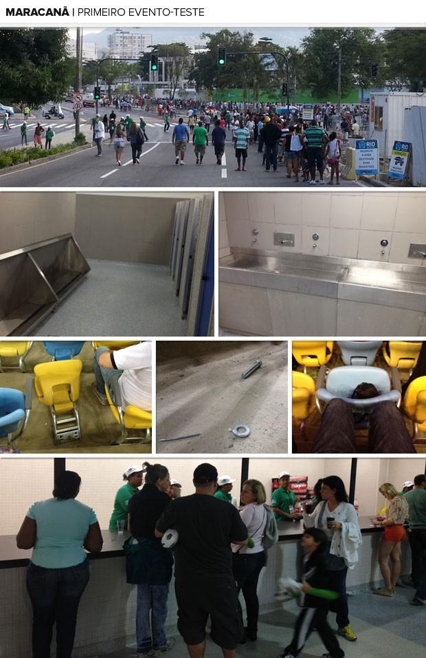 Mosaico Maracanã primeiro evento teste (Foto: Globoesporte.com)