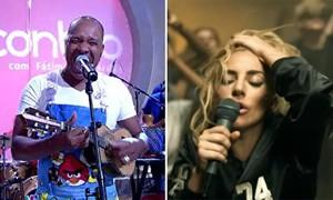 Molejo ou Lady Gaga? No 'Encontro', Fátima Bernardes brincou com semelhança de músicas dos dois (Foto: TV Globo/Reprodução)