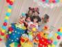 Kelly Key faz festinha para celebrar um mês de vida do filho caçula