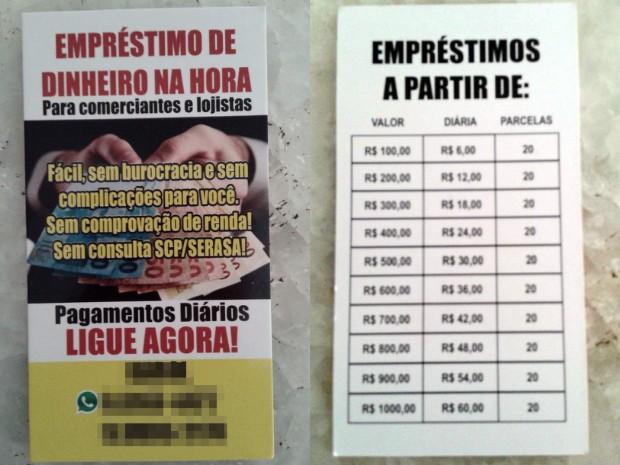 Cartão distribuído mostra de que forma o empréstimo deve ser pago (Foto: Reprodução)