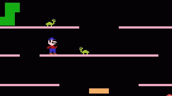 Mario Bros. do Atari 2600 trazia o herói em uma versão bem simplificada dos fliperamas (Foto: Reprodução/AtariAge)