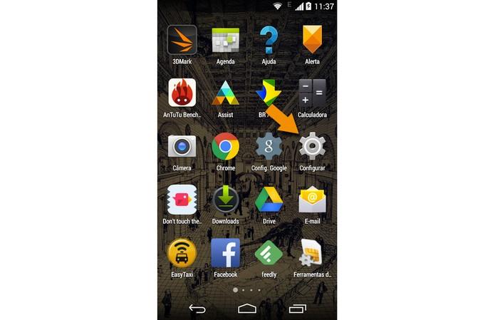 Ícone do menu de configurações do novo Moto G (Foto: Reprodução)