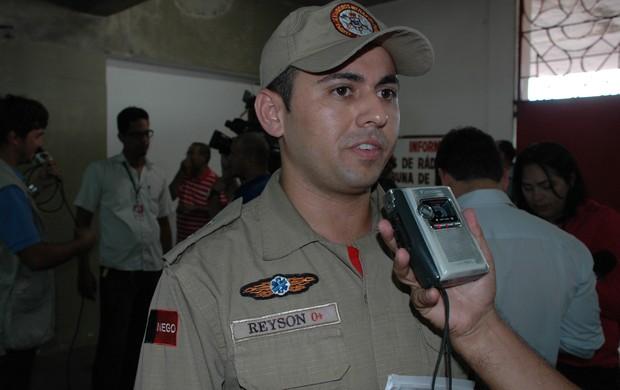 Reyson Timóteo, 1º tenente da polícia militar da Paraíba, Almeidão (Foto: Larissa Keren / Globoesporte.com/pb)