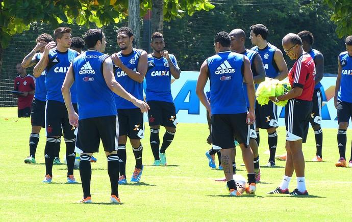 Jayme de Almeida no treino do Flamengo (Foto: Vicente Seda)