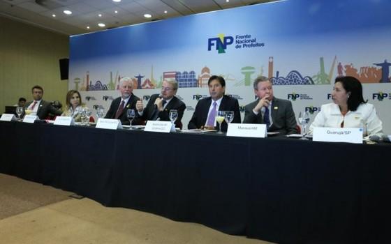 Encontro da Frente Nacional de Prefeitos (Foto: Paulo Negreiros/FNP)