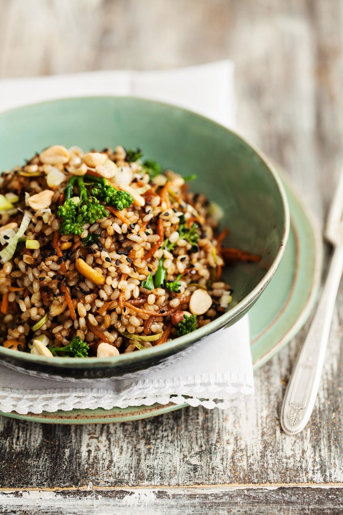 Salada de arroz integral do Gula Gula idealizada por Nanda (Foto: Divulgação)