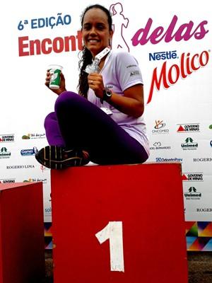 Glaucielle perdeu 22 kg e descobriu a paixão pela corrida (Foto: Arquivo pessoal)