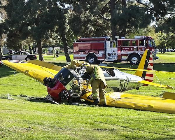 O avião de Harrison Ford que fez posuo de emergência em março de 2015 (Foto: Getty Images)