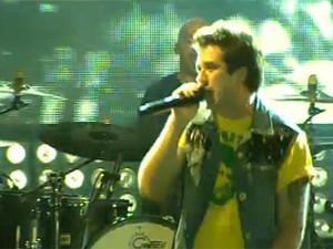 Jota Quest celebra inauguração do Mineirão (Foto: Reprodução/Globoesporte.com)