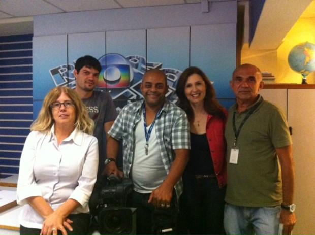Equipe que trabalhou no programa desta sexta-feira (Foto: Divulgação/RBS TV)