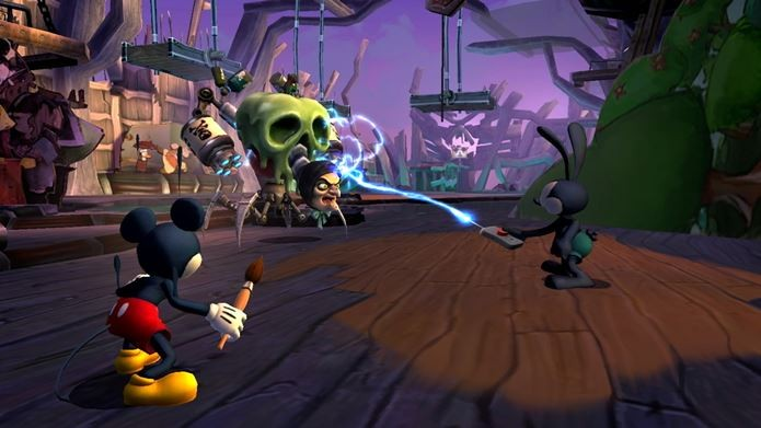 Epic Mickey é um pouco sombrio, mas traz viagem inesquecível pelos primórdios da animação (Foto: Reprodução / Rocketchainshaw)