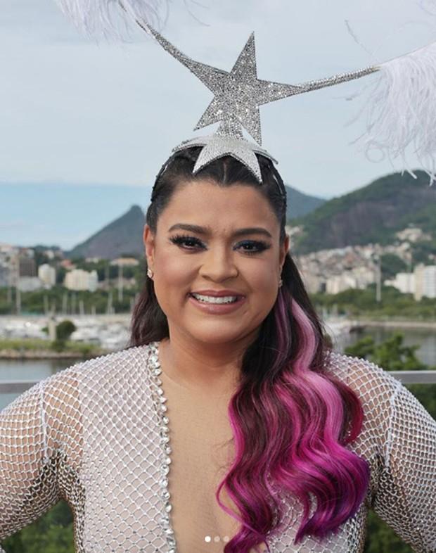 Preta Gil abriu a sua maratona de Carnaval com o cabelo pink (Foto: Reprodução / Instagram)