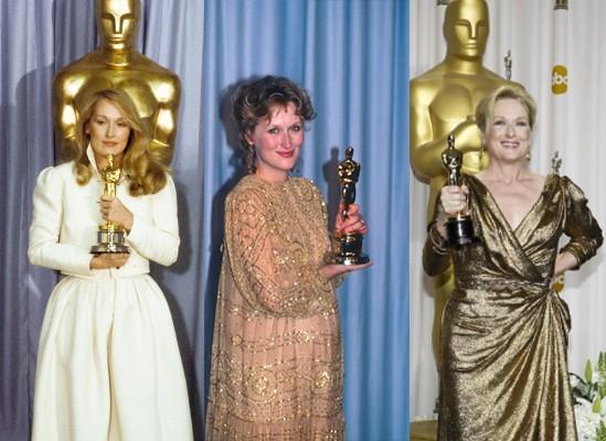 Meryl ganhou três vezes o Oscar: Melhor Atriz Coadjuvante, em 1980, e Melhor Atriz, em 1983 e em 2012 (Foto: Reprodução)