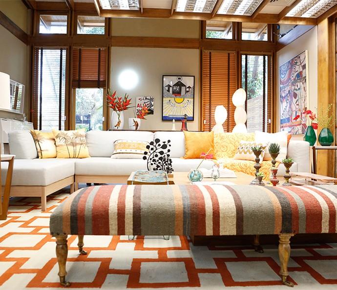 Repare nas cores quentes e inspire-se para reformar sua casa sem gastar muito (Foto: Ellen Soares)