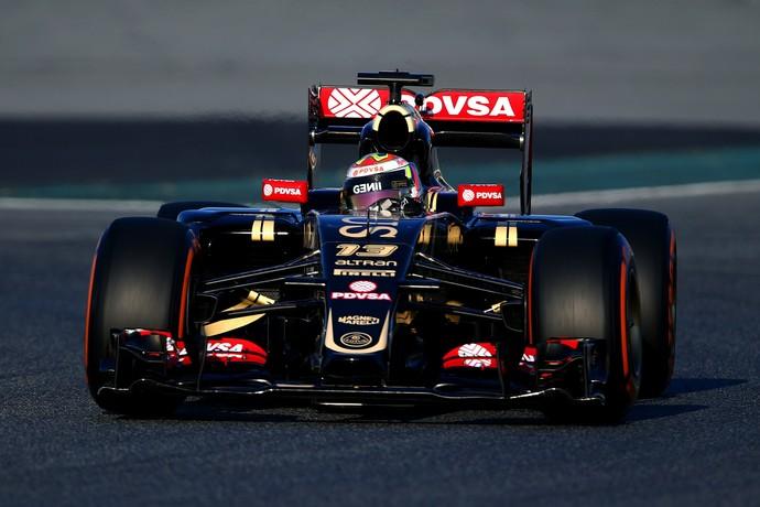 Pastor Maldonado foi o piloto mais rápido do primeiro dia de testes de Barcelona (Foto: Getty Images)