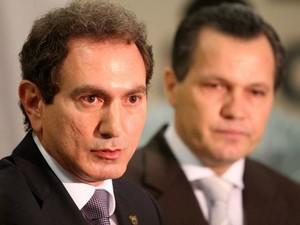 O ex-secretário Pedro Nadaf e o ex-governador Silval Barbosa. (Foto: Marcos Negrini/Secom)