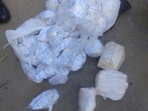 Carga de cocaína é apreendida em Teresópolis (Foto: Divulgação/PM)