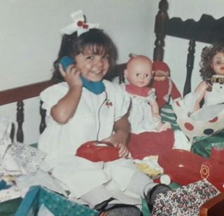 Dalyne Barbosa quando era criança (Foto: Arquivo pessoal)