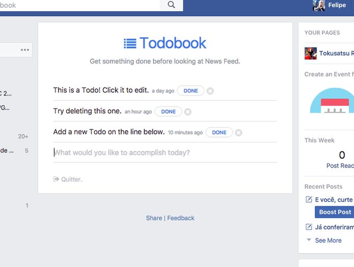 Como transformar o Facebook em uma ferramenta de produtividade (Foto: Reprodução/Felipe Vinha)