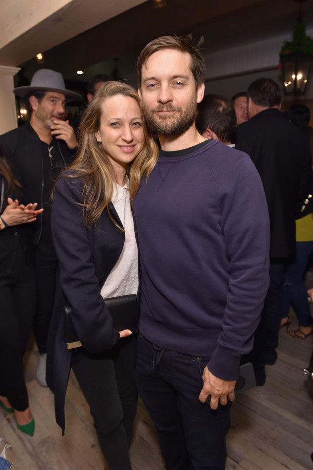 Tobey e a ex-esposa, Jen Meyer (Foto: Getty Images)