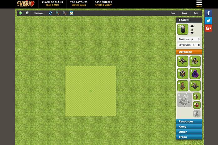 Use o zoom para ver o mapa do Clash of Clans (Foto: Reprodução/Murilo Molina)