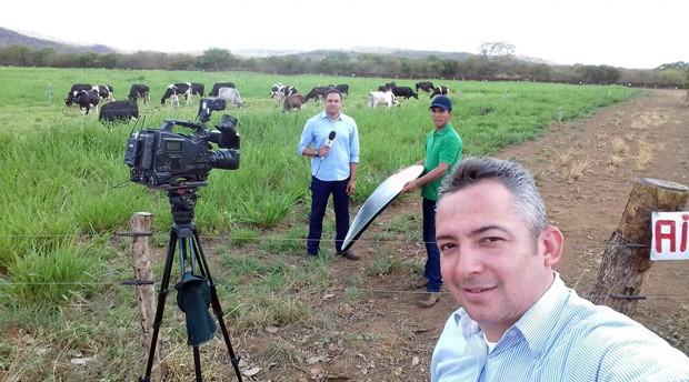 Equipe do Clube Rural percorreu fazendas e conversou com alguns criadores (Foto: TV Clube)