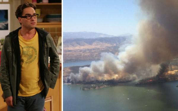 O ator John Galecki e a região na qual está instalado seu rancho (Foto: Reprodução)
