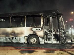 PM não confirma caso como atentado (Foto: Éder Silva/Bombeiros Imbituba)