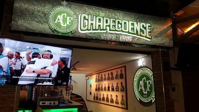 bar temático da chapecoense em medellín (Foto: arquivo)