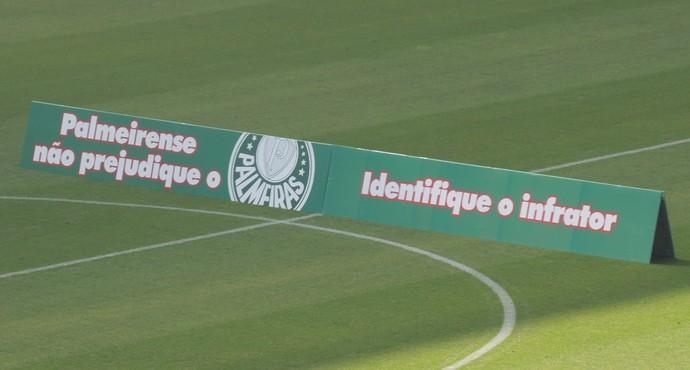 Foto mensagem para a torcida do Palmeiras (Foto: Felipe Zito)