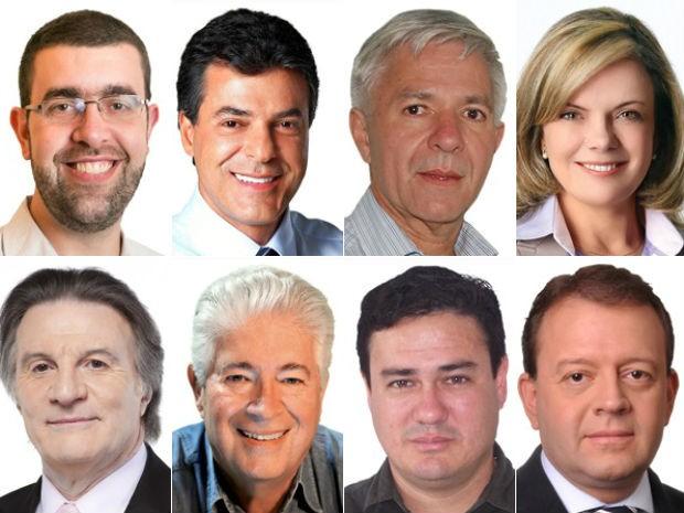 Oito candidatos concorrem ao cargo de governador do Paraná nestas eleições (Foto: Divulgação)