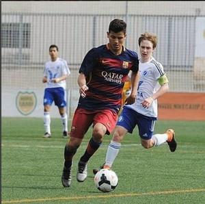 Lucas de Vega, meia do Barcelona sub-16 (Foto: Reprodução / Instagram)
