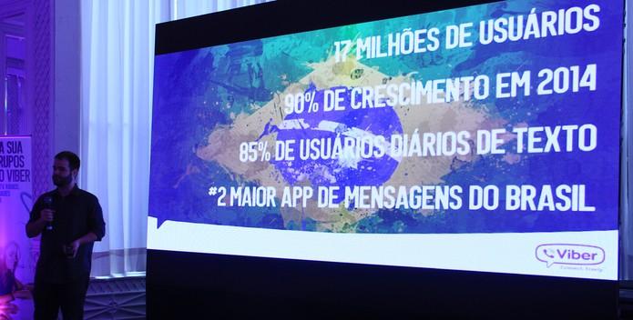 Viber celebra como segundo app de mensagens mais popular no Brasil (Foto: TechTudo/Renato Bazan)